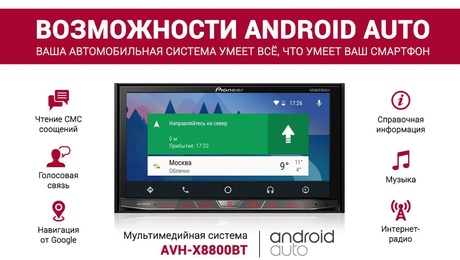 Android Auto от Pioneer
